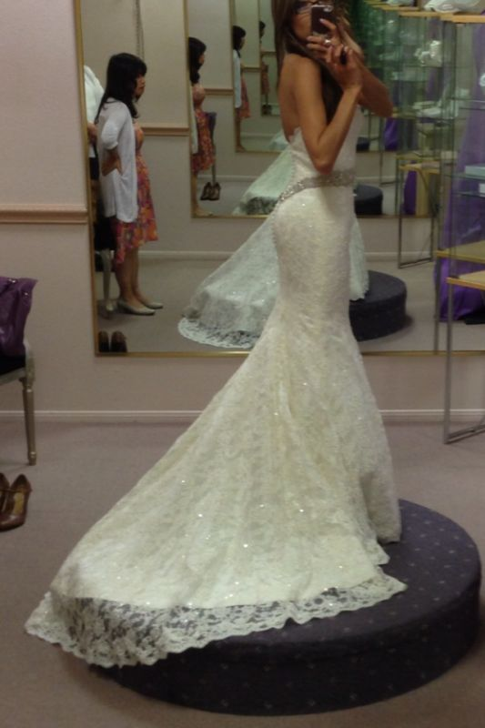 Altering wedding dress lace up