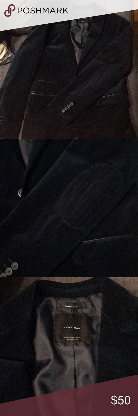 Beautiful blue suede blazer Beautiful blazer from Zara Man! Nice stitched detailing.worn once Zara Suits & Blazers Sport Coats & Blazers