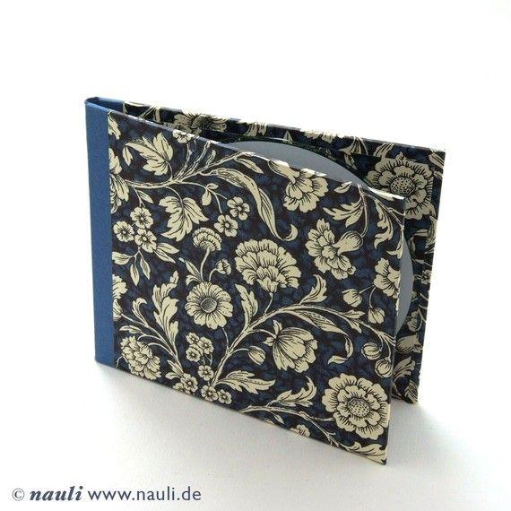 Nauli handmade Cd Case Renaissance Flower Blue by nauli on Etsy, €10.00
