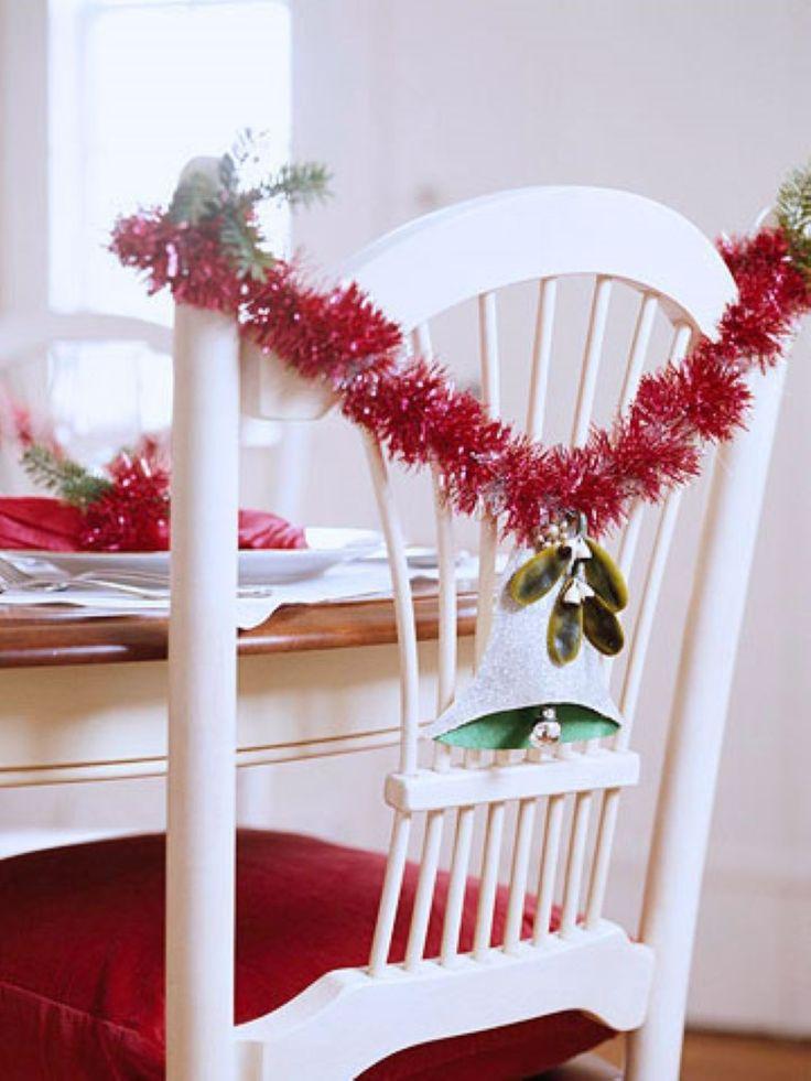 Silla decorativa navideña