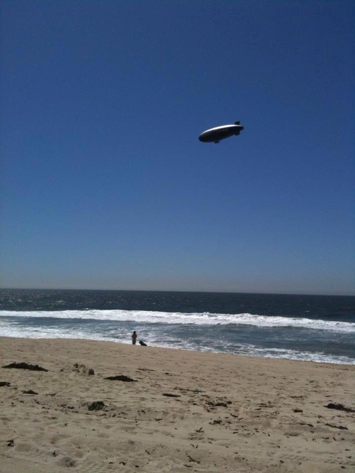Goodyear blimp over Torrance Beach California 81