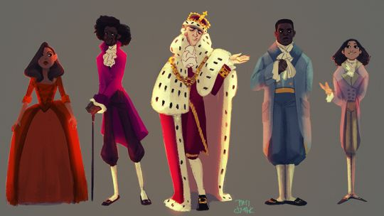 Maria Reynolds, Thomas Jefferson, King George III, James Madison, and Philip Hamilton