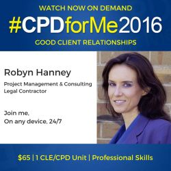 $65 #auslaw #lawyer #CPD Watch Now Good Client Relationships #staff http://bit.ly/CPD-Clients @robynhanney #HR On-Demand