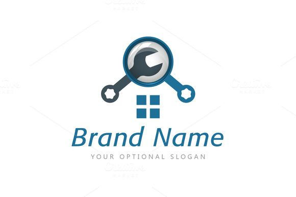 For sale. Only $29 - search, real estate, house, home, shop, building, retail, magnifying, lens, find, maintenance, tool, window, repair, equipment, glass, zoom, roof, detail, handyman, wrench, fix, spanner, realty, property, logo, design, template,