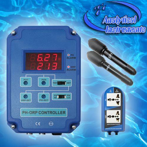 2-Fach Controller Regler Regelgerät Steuerung Steuergerät (PH+Redox/ORP) Ozon Ozonisator CO2 Aquarium Pool Teich Süß-/Salzwasser P13