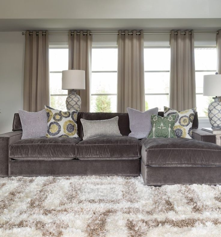 Interior, Gray Couches Living Room Be Equipped With Gray Velvet Oversized Sectional Sleeper Sofa With Left Chaise Added Loght Gray Cushions Gray Velvet Sectional Sofa: Gray Couch: Making Your Room Elegant and Classic