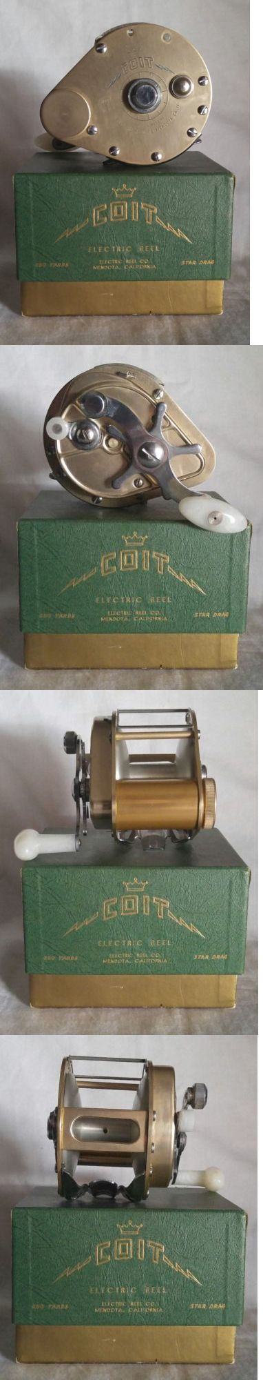 Other Vintage Fishing Reels 11143: Coit Model E Electric Fishing Reel Made In Mendota, Ca Circa 1953 Gold Model Nib BUY IT NOW ONLY: $175.0
