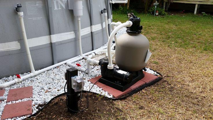 Intex Pool Upgraded Hard Plumb, Pool pump, Sand Filter, and Salt Water G...