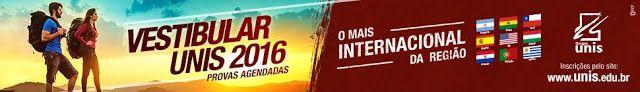 Folha do Sul - Blog do Paulão no ar desde 15/4/2012: UNIS: VESTIBULAR 2016