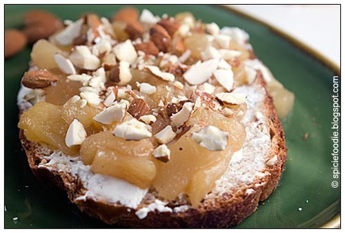 Caramelized Pears on Goat Cheese Crostini #meatless #lunch # ...