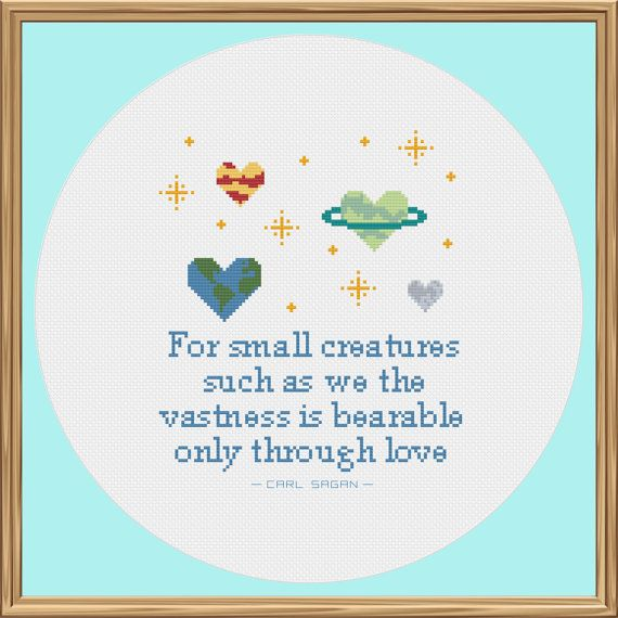 Space Cross Stitch Pattern Carl Sagan Quote by CleverCrossStitch