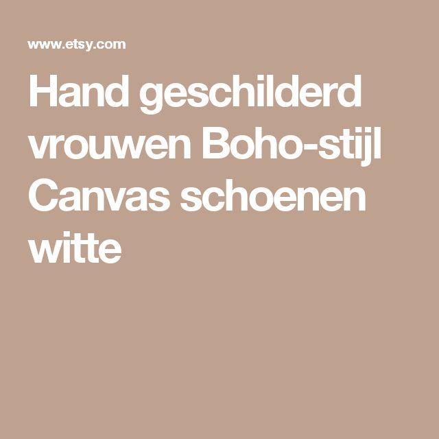 Hand geschilderd vrouwen Boho-stijl Canvas schoenen witte