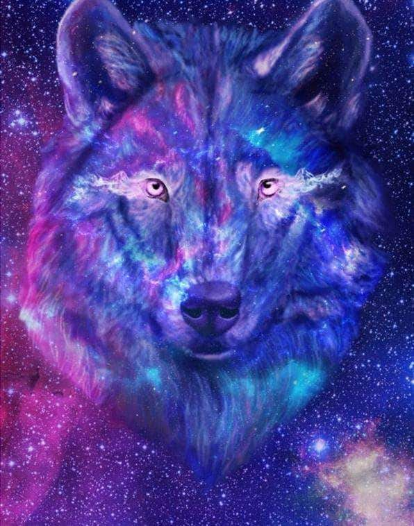Buy Galaxy Wolf Diamond Painting Kit At 30 Off Pretty Neat Creative Galaxy Wolf Anime Wolf Girl Wolf Wallpaper