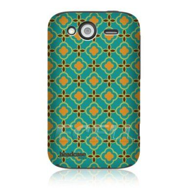 Ecell - HEAD CASE DESIGNS GREEN FLORAL MOROCCAN PRINT PATTERN CASE FOR HTC WILDFIRE S: Amazon.co.uk: Electronics