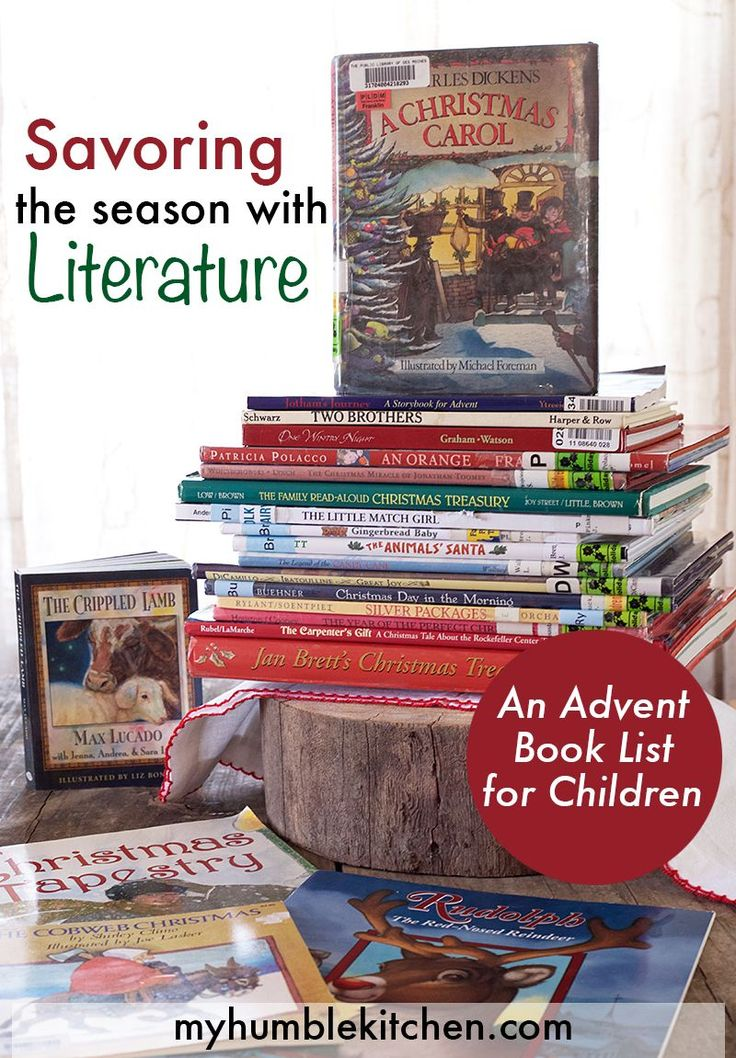Savoring the Season with Literature - An Advent Book List for Children | myhumblekitchen.com