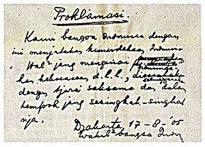 Proklamasi Kemerdekaan Indonesia - Wikipedia bahasa Indonesia, ensiklopedia bebas