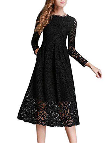 Abendkleid lang schwarz mit spitze