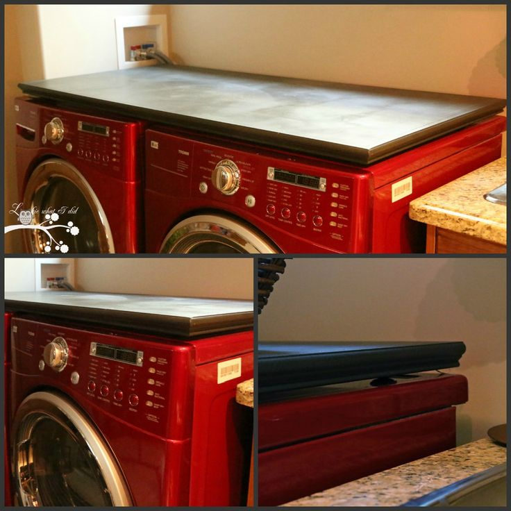 Lookie What I Did: Laundry Room Makeover Week - Counter Top for Washer/Dryer - How We Made a Custom Counter Top for less than $5.00