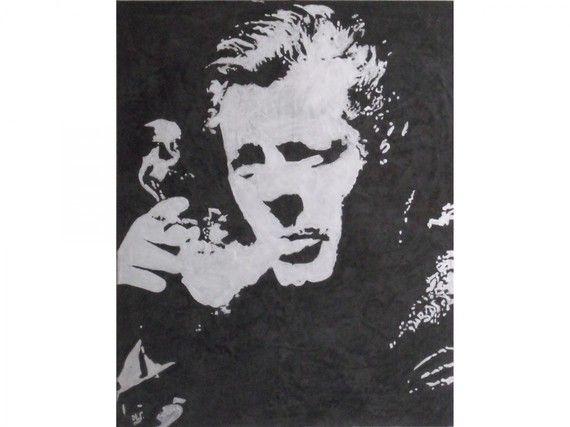 Portrait en stucco de Marcello Mastroianni