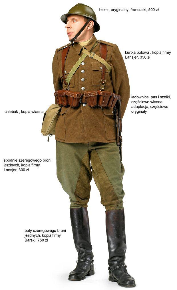 Hubert Zalewski w mundurze kawalerzysty polskiego