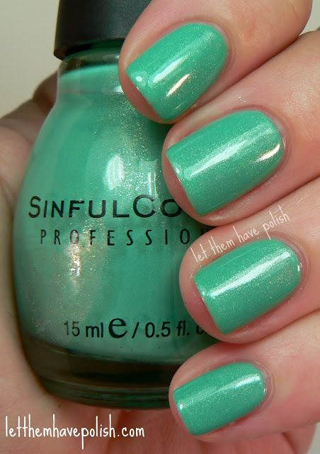 sinful colors -mint apple. This is my new favorite nail polish.