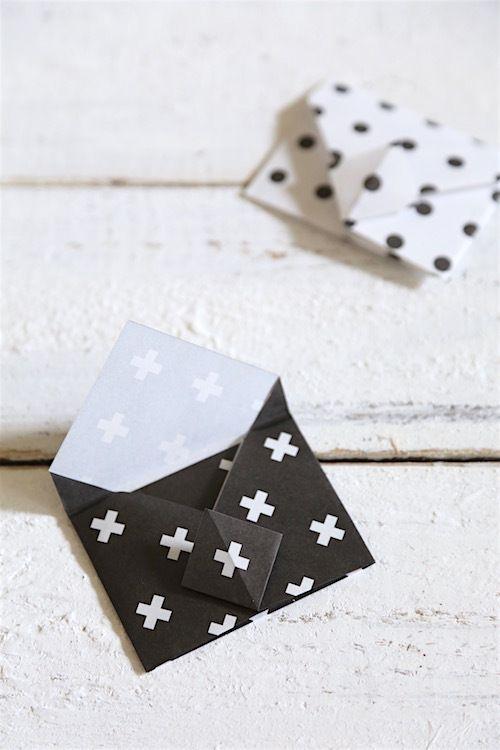 ★キャンドゥ100円折り紙で♪簡単・かわいい・便利なミニ封筒   インテリアと暮らしのヒント