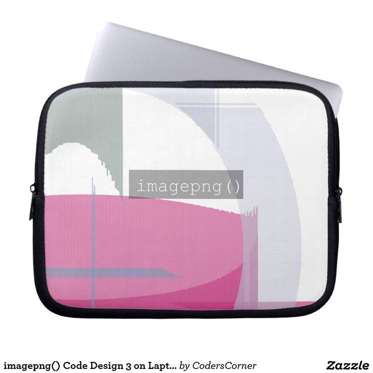 imagepng() Code Design 3 on Laptop Sleeve