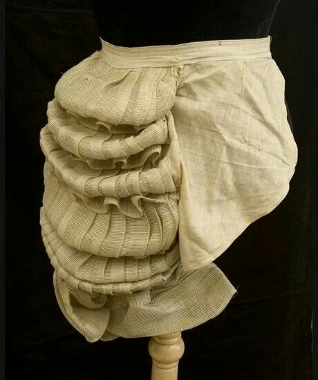 Stiff to support the skirts. Horsehair bustle pad, 1870s, from the Vintage Textile archives.