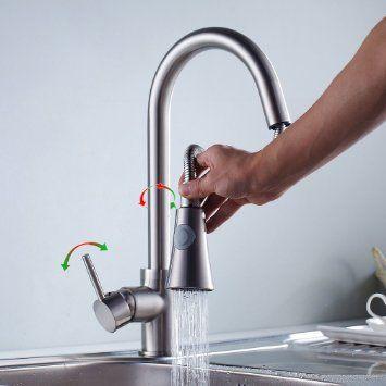 Auralum contemporain robinet de douche seul levier evier for Levier de cuisine