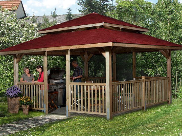 WEKA Paradies 4 Gr. 2 Gartenlaube Sparset inkl. Dachschindeln