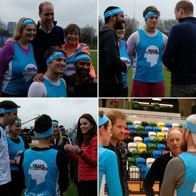 Their Royal Highnesses also met runners such as Channel 5 news reader Sian Williams and @bbcradio1 presenter Adele Roberts who are running for @heads_together in the London Marathon in April.  Their vision for the campaign, which they launched in 2016 is for everyone to get talking about mental health in order to help change lives and reduce the stigma around the issues.  #HeadsTogether