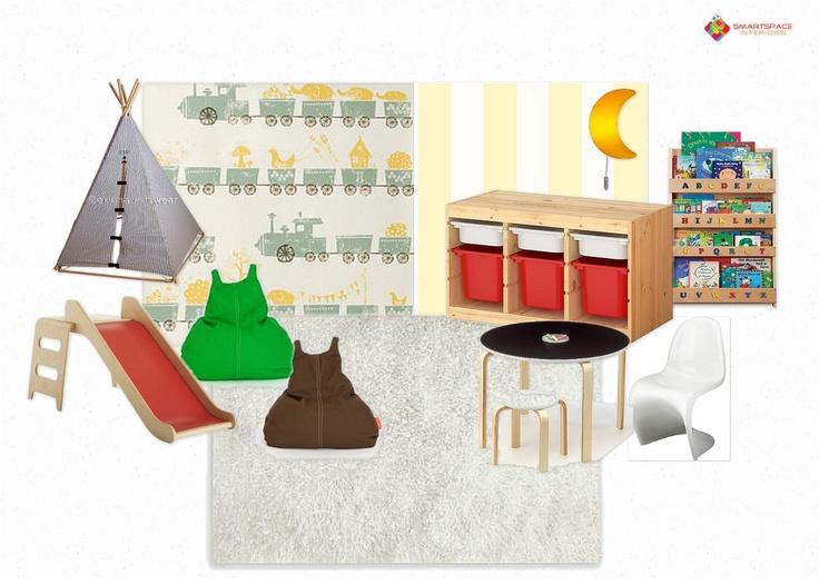 Playroom - Feature Ferm Living wallpaper