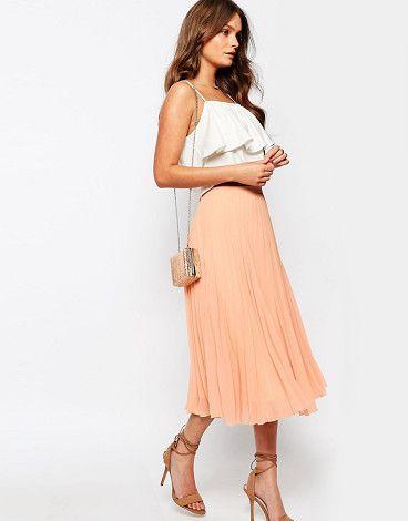 Chiffon pleat midi skirt by New Look. Midi skirt by New Look, Pleated chiffon, Fully lined, High-rise waist, Side zip fastening, Regular fit - true to size...