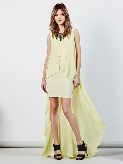 Put some colour in your life #dress #yellow #necklace #BSB