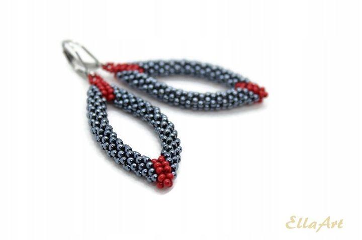 Ellaart Kolczyki 3d Owalne Z Koralikow Rope Bracelet Earrings Jewelry