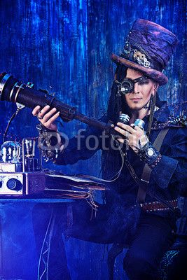 "La photo ""male inventor"" de Andrey Kiselev est disponible sur Fotolia sous une licence libre de droits à partir de 1 crédit (Crédit à partir de 0,74 €).  homme inventeur, scientifique, chercheur, science-fiction, steampunk"