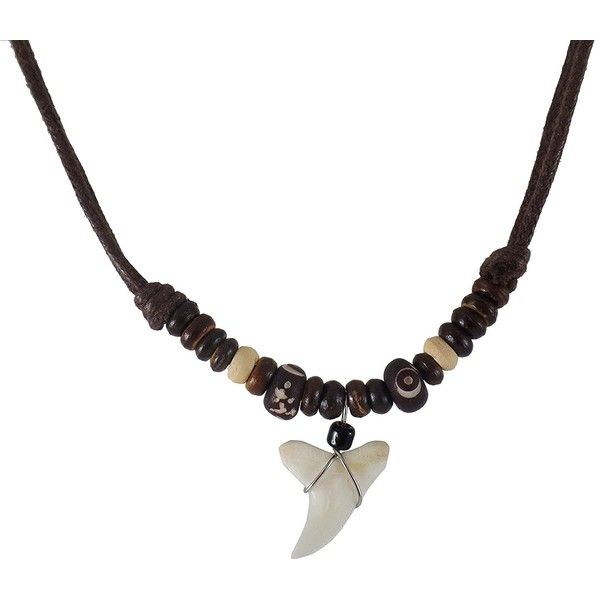 Amazon.com: Real Shark Tooth Necklace- Shark Necklace - Handmade with... ($9.95) ❤ liked on Polyvore featuring jewelry, necklaces, hawaiian jewelry, hawaiian necklace, shark tooth jewelry, hawaiian shark tooth necklace and shark tooth necklaces