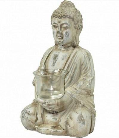 Svícen Budha z kameniny