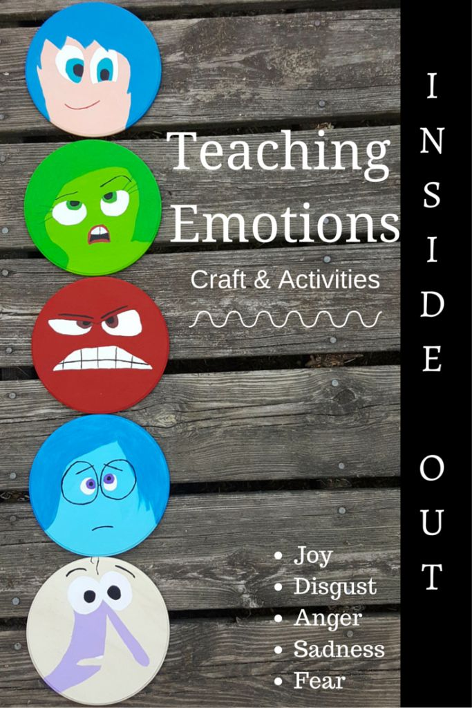 Disney Pixar Inside Out inspired Teaching Emotions craft & Activities. LOVE the idea with the paint chips and words to visual for kids who need help describing how they feel. Perfect asperger's / autism tool and social skills group idea.