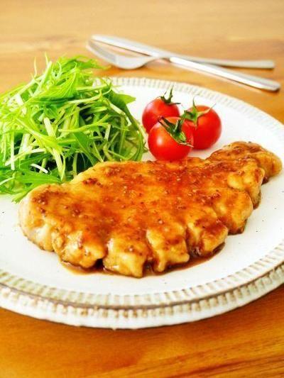 厚切り豚ロースのマスタードソテー♪簡単おいしい豚肉レシピ by みぃ ...