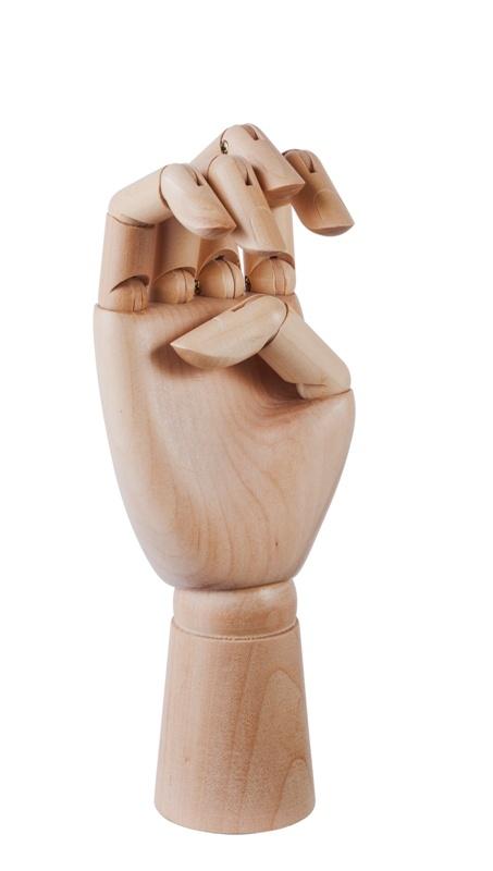 Wooden hand Hay