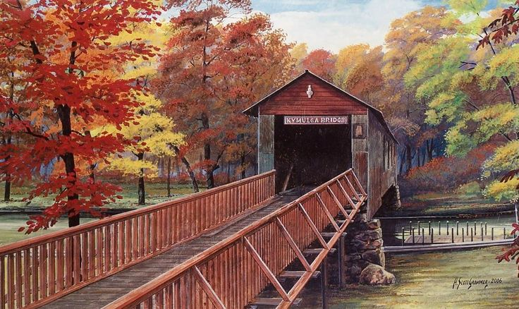 Kymulga Bridge, Childersburg, AL    One of the oldest bridges in the State of…