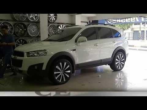 modifikasi velg mobil Chevrolet captiva | Chevrolet Captiva Car Rims Modification - YouTube