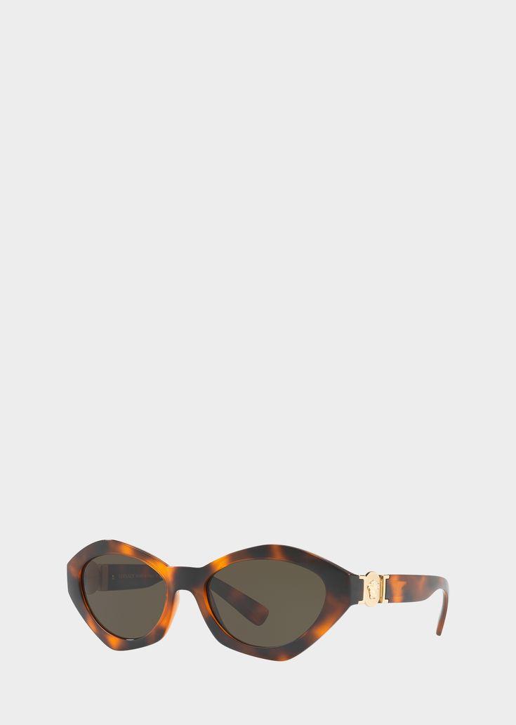 Versace - SS18   Havana Hexad Signature Sunglasses