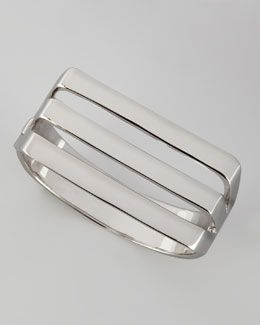 Ребекка Минкофф J7412 Silvertone Трехместный матерчатые манжеты