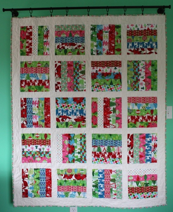 25 best jelly roll quilt ideas images on Pinterest | Quilting ... : quilt for christmas - Adamdwight.com