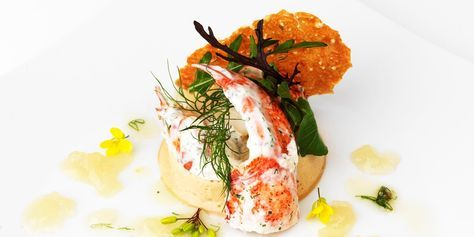 Frances Atkins updates the classic French dish of lobster thermidor by condensing the flavours into a mousseline. A creative seafood starter
