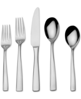 Mikasa Delano Mirror 20-Piece Flatware Set $69.99 Sleek and streamlined, the Mikasa Delano Mirror stainless steel flatware set's transitional styling suits casual or formal tablescapes.