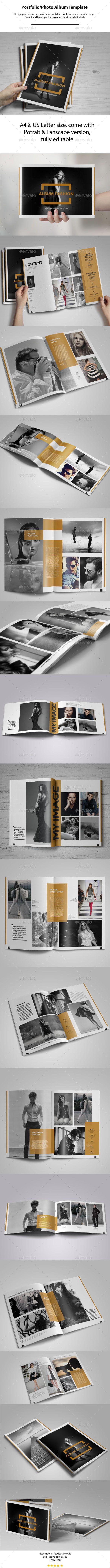 Portrait & Landscape Photo Album Template - #Photo #Albums Print Templates Download here: https://graphicriver.net/item/portrait-landscape-photo-album-template/11056046?ref=alena994