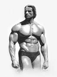Another great piece of art of my role model, Arnold Schwarzenegger, unknown artist